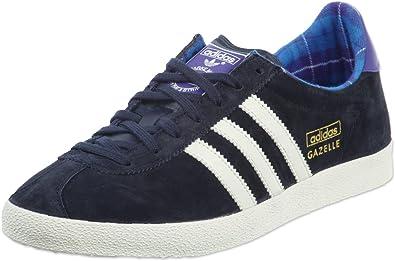 detailed look f96b5 2ff55 adidas Originals Women s Gazelle OG W Slippers Blue Size  10.5 UK