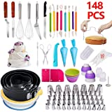 JACKBAGGIO New DIY Home Cake Decorating Supplies Kit, Baking Supplies Set, Cake Decorating Tips,Cream Bag for Beginners and Cake Lovers (148pcs/set)
