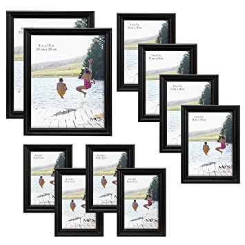 Amazoncom Mcs 10pc Multi Pack Picture Frame Value Set Two 8x10