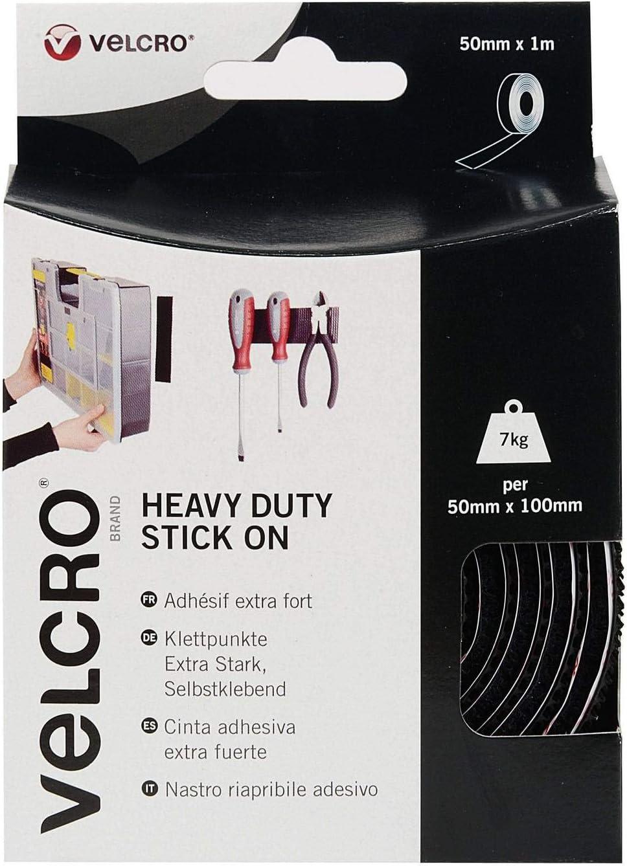 Heavy Duty Stick OnSuperior Holding Power 50mm x 2.5m Tape VELCRO Brand
