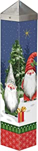 Studio M Gnome for Christmas Art Pole Outdoor Decorative Garden Post, Made in USA, 20 Inches Tall