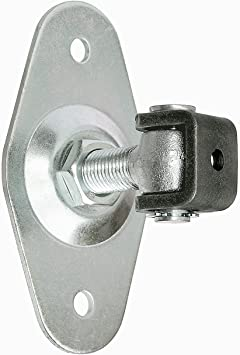 Torangel einstellbar M20 Anschraubplatte Rhombus 160x84x4 Torb/änder Torscharnier