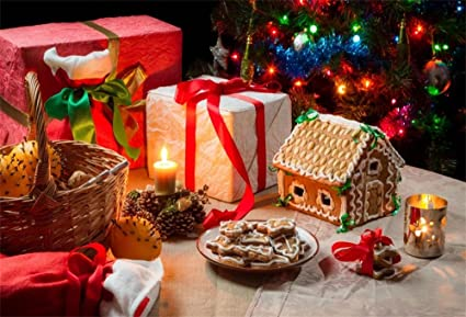 Christmas Gingerbread House Background.Amazon Com Ofila Christmas Gingerbread House Backdrop