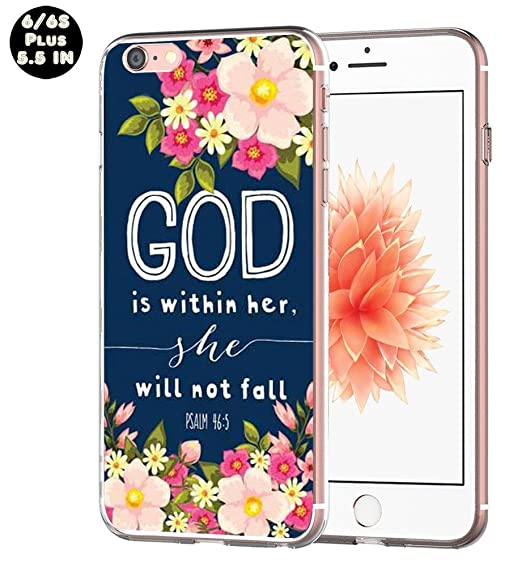 3391e1f1a2b Case for iPhone 6S Plus Christian Quotes -  Exact Compatible Slim Fit Clear  with Design