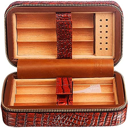Humidor de cigarros caja de cigarros Caja De Puros, Humidificador De Forro De Madera De Cedro