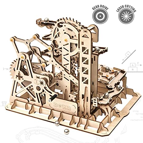 Amazon Com Rokr 3d Wooden Puzzle Mechanical Model Wooden Craft Kit
