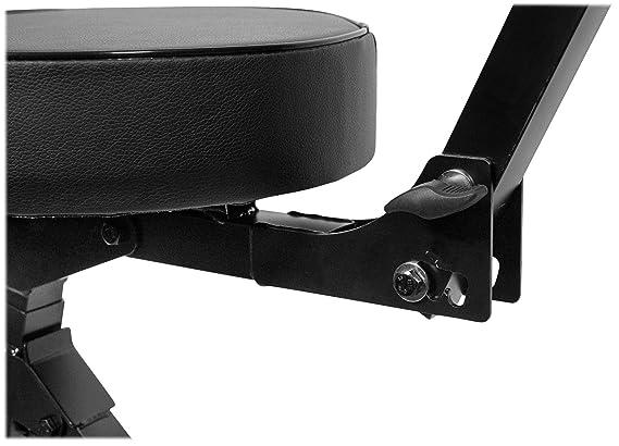 Rockville RDS41 Portable DJ//Guitar//Drum//Keyboard Padded Throne//Chair Adjustable