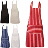 Red Chefs Aprons, Butchers Aprons, Cooking Aprons, Baking Aprons, Kitchen Aprons, Suitable for All Domestic and Professional Purposes, from BBQs To Restaurants.