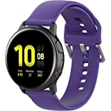 TERSELY 20mm Replacement Band for Samsung Galaxy Gear Watch Active/Active 2 40mm /44mm Sports Silicone Watch Strap Watchband Wristband Smartwatch Bracelet - Purple