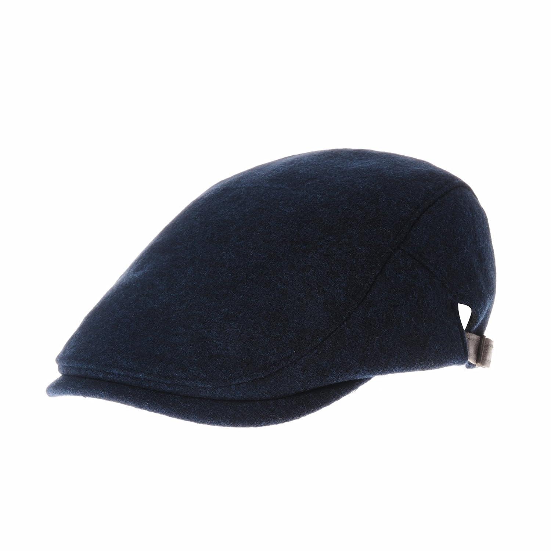 WITHMOONS Schlägermütze Golfermütze Schiebermütze Wool Soft Melange Simple Newsboy Hat Flat Cap SL3126 SL3126Blue
