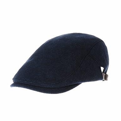 WITHMOONS Coppola Cappello Irish Gatsby Wool Soft Melange Simple Newsboy Hat  Flat Cap SL3126 (Blue)  Amazon.it  Abbigliamento e43456b81adf