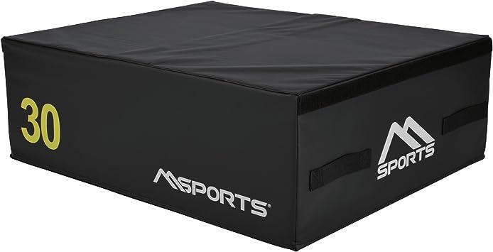 Msports PLYO BOX Professional 3 piezas | Jump Box Set & # x2022; PLYO BOX & # x2022; Salto Caja & # x2022; plyometrisches Entrenamiento, Schwarz - 90 x 75 x 30 cm: Amazon.es: Deportes y aire libre