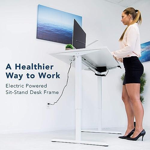 Mount-It Electric Standing Desk Frame | Height Adjustable Motorized Sit Stand Desk Base