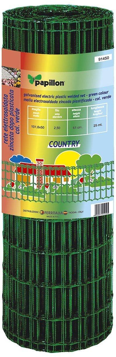 Netzwerk metalliza verzinkt PVC-beschichtet Typ Country L MT. 25Höhe MT. 1,22
