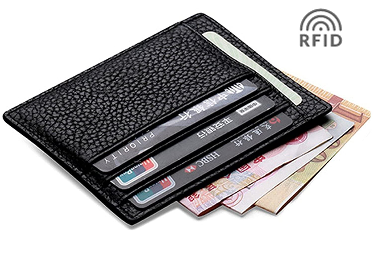 MEKU RFID Blocking Slim Leather Credit Card Holder Business Card ...