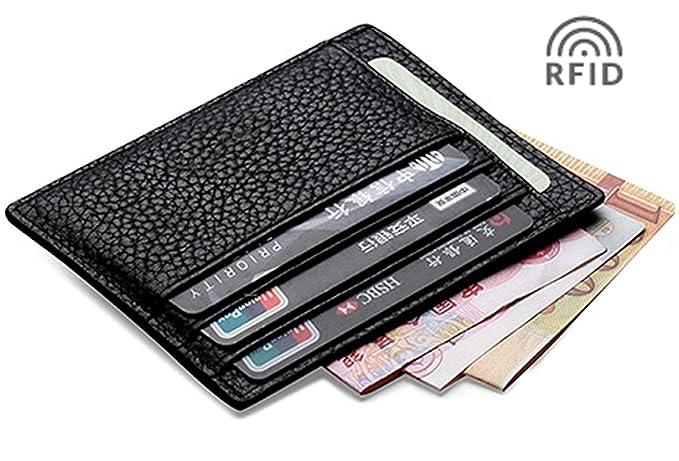 Meku rfid blocking slim leather credit card holder business card meku rfid blocking slim leather credit card holder business card case minimalist wallet with cash clip colourmoves