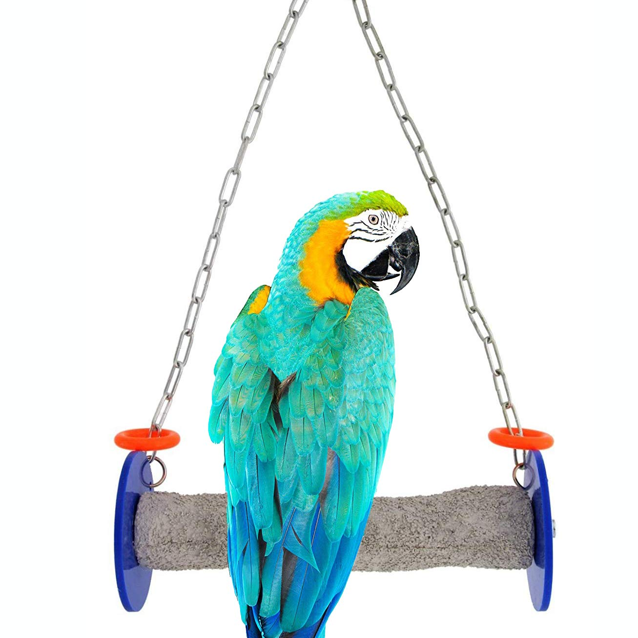 Sweet Feet and Beak Roll Swing and Perch for Birds, Keeps Nails and Beak in Top Condition and Stimulate Leg Muscles - Made in the USA -Safe and Non-Toxic, For Cages-Various Colors and Sizes Available by Sweet Feet and Beak