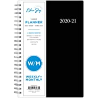 """Blue Sky 2020-2021 Academic Year Weekly & Monthly Planner, Flexible Cover, Twin-Wire Binding, 5"""" x 8"""", Enterprise"""
