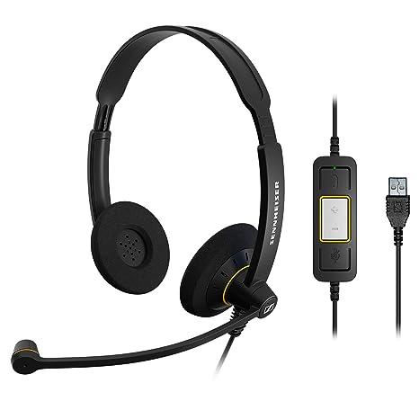 4e12c90686f Amazon.com: Sennheiser SC 60 USB ML (504547) - Double-Sided Business ...