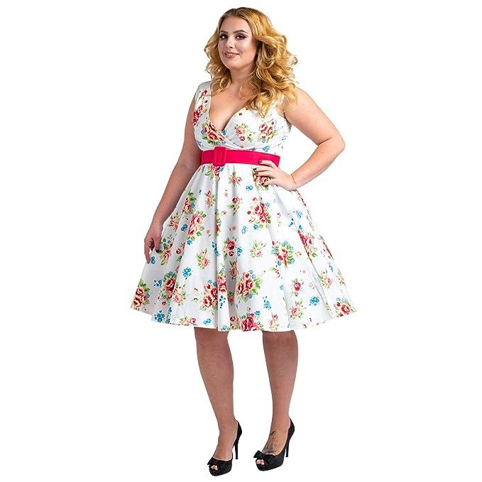 Floral Bridesmaid Dresses 1940\'s Rockabilly Plus Size Braid ...