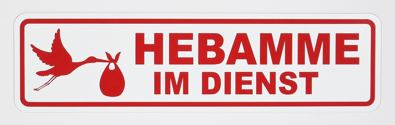 lieferbar in drei Gr/ö/ßen Magnetschild HEBAMME IM DIENST Schild magnetisch 35 x 9 cm