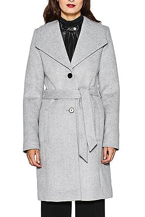 Esprit Collection Damen Mantel 087eo1g017 Grau Light Grey 040