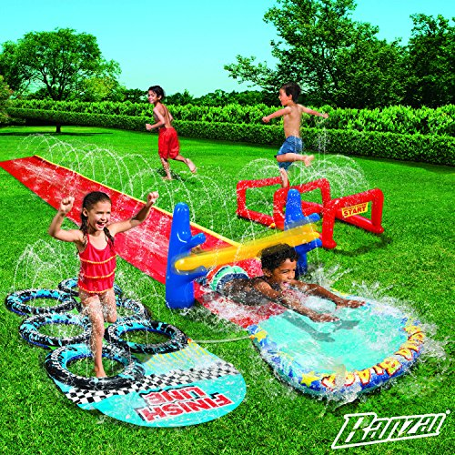 BANZAI Aqua Blast Obstacle Course Inflatible Obstacle Course ()