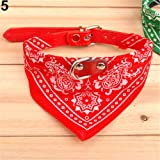 Everyday Small Adjustable Fashion Pet Dog Cat Bandana Scarf Collar Neckerchief Pet Ties (RedS)