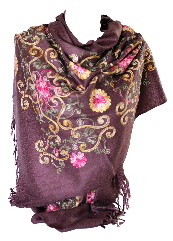 Bella Pashmina del bordo strappato multicolore sento lo sciarpa della sciarpa della sciarpa della sciarpa della sciarpa della sciarpa della sciarpa (Viola)
