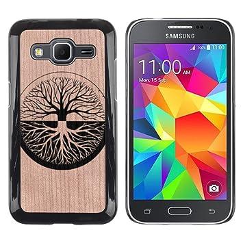 Funda Cubierta Madera de cereza Duro PC Teléfono Estuche / Hard Case for Samsung Galaxy Core Prime /