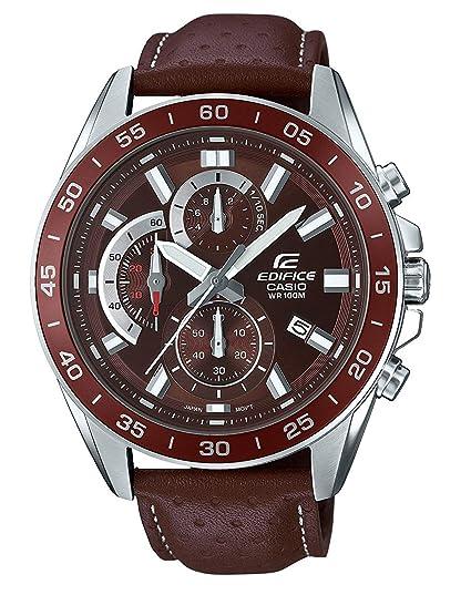 db8001dfedc3 Casio Reloj Analogico para Hombre de Cuarzo con Correa en Cuero EFV-550L-5AVUEF   Amazon.es  Relojes