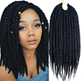 VRHOT 6Packs 18'' Box Braids Crochet Hair Small Synthetic Hair Extensions Twist Crochet Braids Hairstyles Kanekalon Braiding Hair Style Long Dreadlocks for Black Women 18 inch