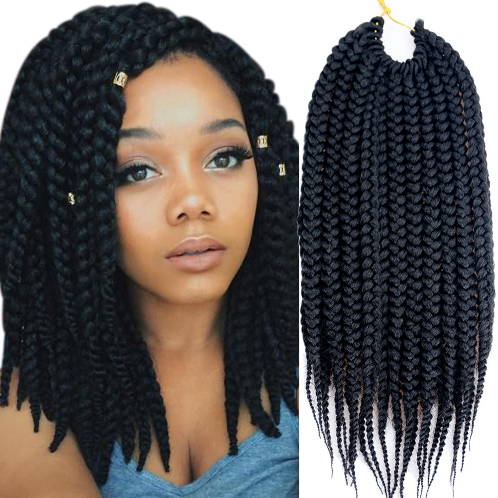 Vrhot 6packs 12 Box Braids Crochet Hair Pre Looped Crochet Braids 3s Soft Synthetic Hair Extensions Hairstyles Braiding Hair Style Dreadlocks For