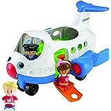 Mattel BJT56 - Fisher-Price Little People Flugzeug, inklusive 3 Figuren