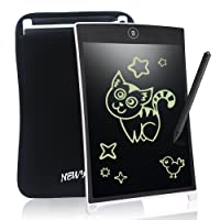 8.5 Inch LCD Writing Tablet Digital Portable NEWYES touch Pad Rugged drawing Tablet Magnetic Fridge Planner Office Memo Boards with Sleeve case (white)