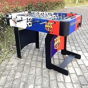 XLOO Mesa de futbolín Plegable de imitación de Madera y Rugido, fútbol Deportivo Arcade, para Torneo de Juegos de Pub - Niños y Adultos - Juegos de Bar: Amazon.es: Hogar