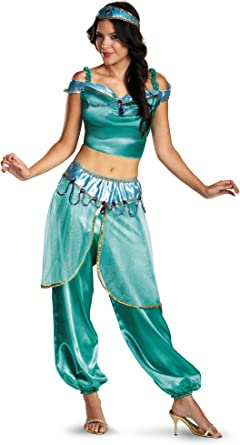 Disney Disfraz Mujer Aladdin Jasmine Deluxe Disfraz - Verde ...
