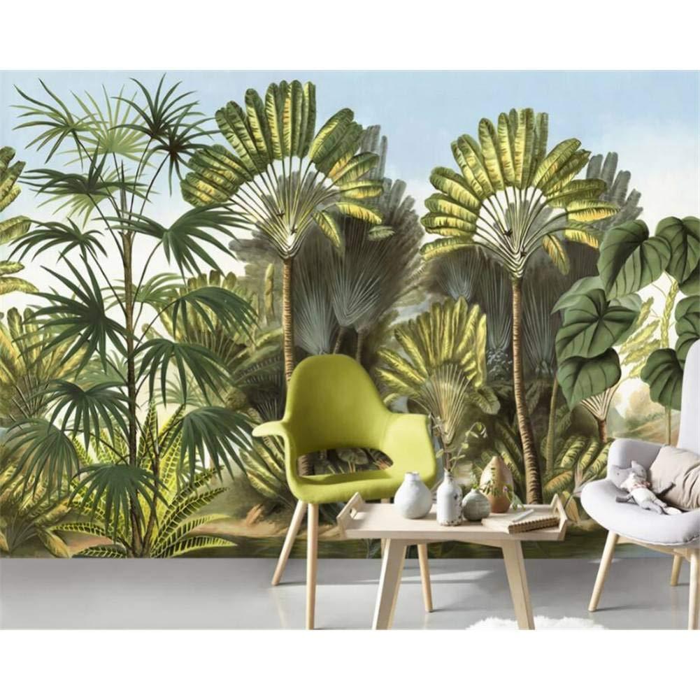 suministramos lo mejor YYBHTM Fondo De PanTalla Dibujar A Mano árbol árbol árbol De Plátano Selva Tropical Jardín Mural TV Sofá Fondo 3D 250x175cm  la calidad primero los consumidores primero