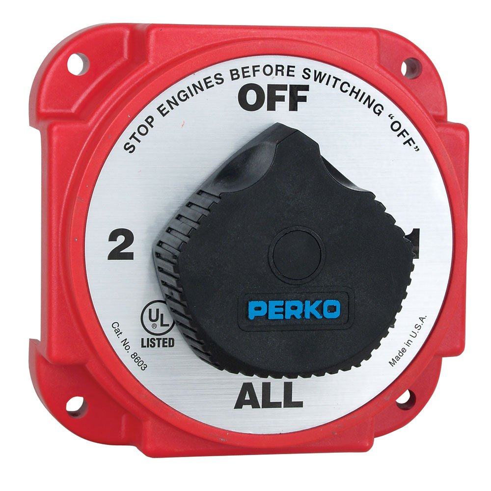 Amazon perko heavy duty battery selector w alternator amazon perko heavy duty battery selector w alternator disconnect boating battery switches sports outdoors publicscrutiny Image collections