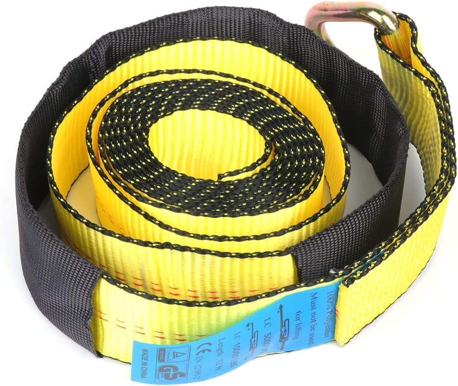 SCITOO 4X 12 Lasso Straps Wrecker Truck Car Hauler Tow Dolly Tire Wheel Tie Down Strap