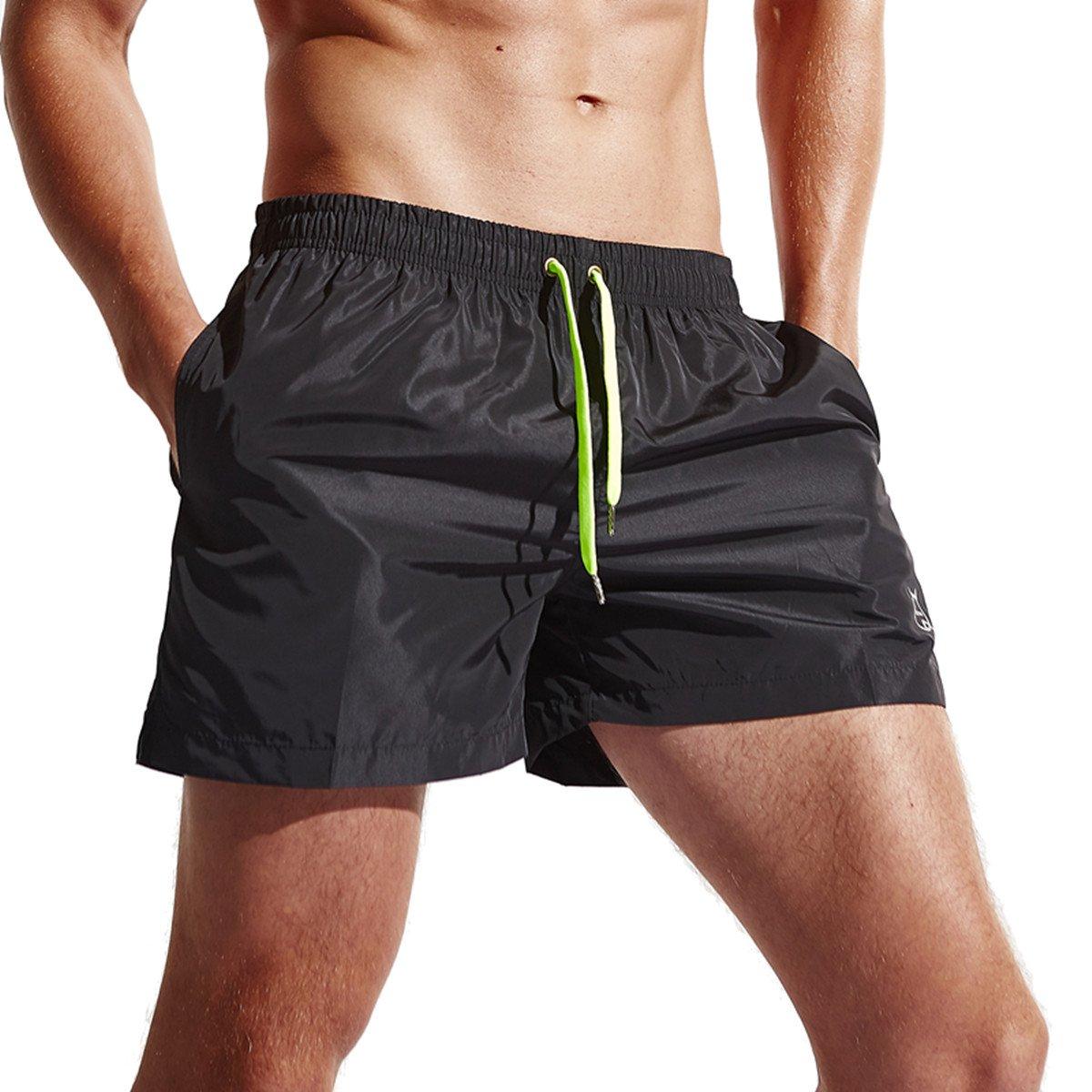 CHENHENG Mens Swim Trunks Beach Shorts Quick Dry Swim Shorts Swimwear for Surfing,Swimming,Watershorts (L Asia Tag XXL -Waist:31\