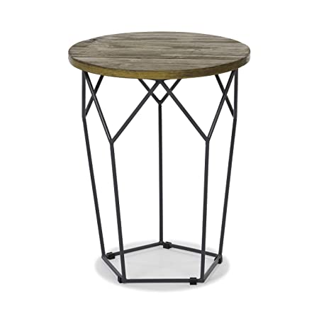 Tilden Solid Wood Rustic End Table use as End, Side, Bedside Table – Living Bedroom Furniture Brown