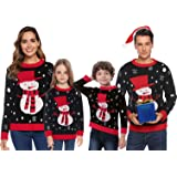 Abollria Suéter de Navidad,Jersey Navideño Sudaderas Navideñas Familiares Niño Niña Sueter Hombre Mujer Sweaters…