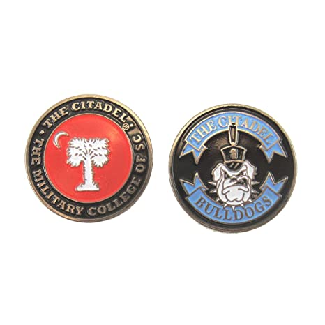 59d0dc0c378 Image Unavailable. Image not available for. Color  The Citadel Bulldogs  Double-Sided Golf Ball Marker