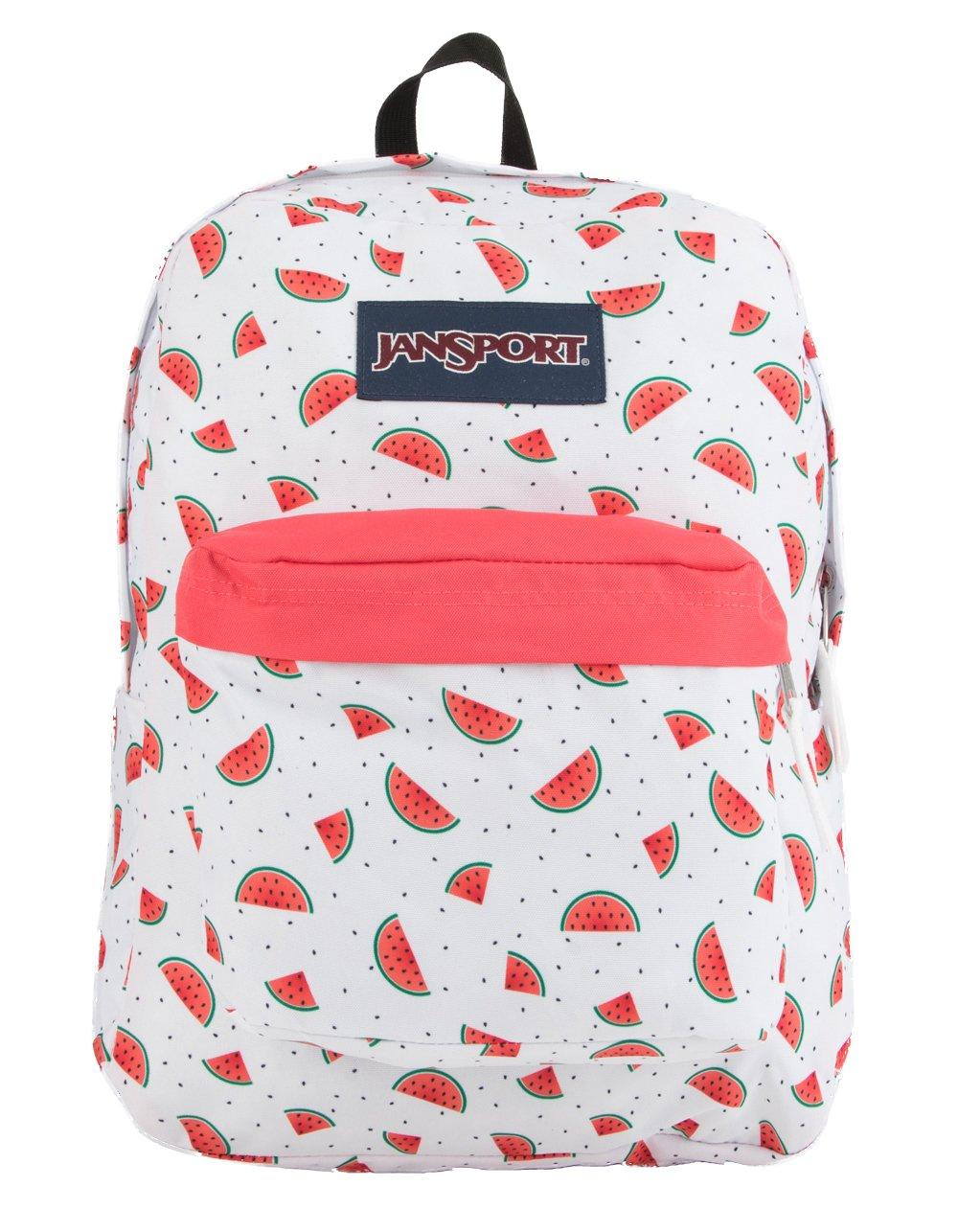 JanSport Superbreak Backpack - Watermelon Rain - Classic, Ultralight by JanSport