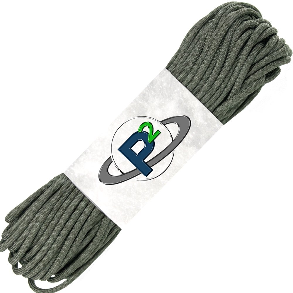 PARACORD PLANET Mil-Spec Commercial Grade 550lb Type III Nylon Paracord (Foliage, 50 feet) by PARACORD PLANET