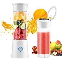 Portable Blender, Willnorn Fruit Juice Mixer with 480ml Travel Bottle, USB Rechargeable& 6 PCS Blades Mini Personal Blender for Juice, Smoothie and Milkshake(A Replaceable Glass Bottle as Gift)