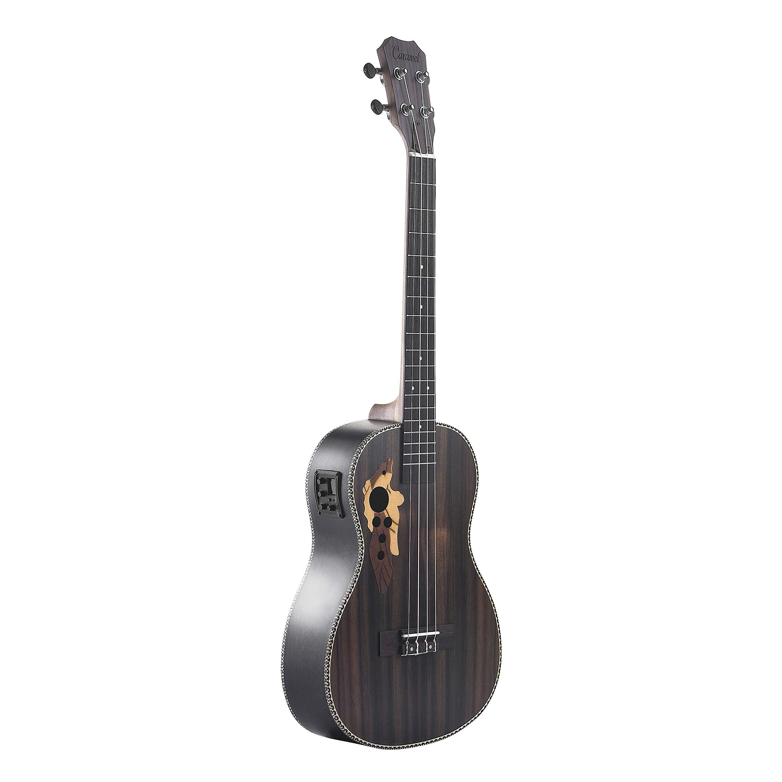 Caramel CB500 30 Inch All Rosewood Baritone Acoustic Electric Ukulele With Truss Rod