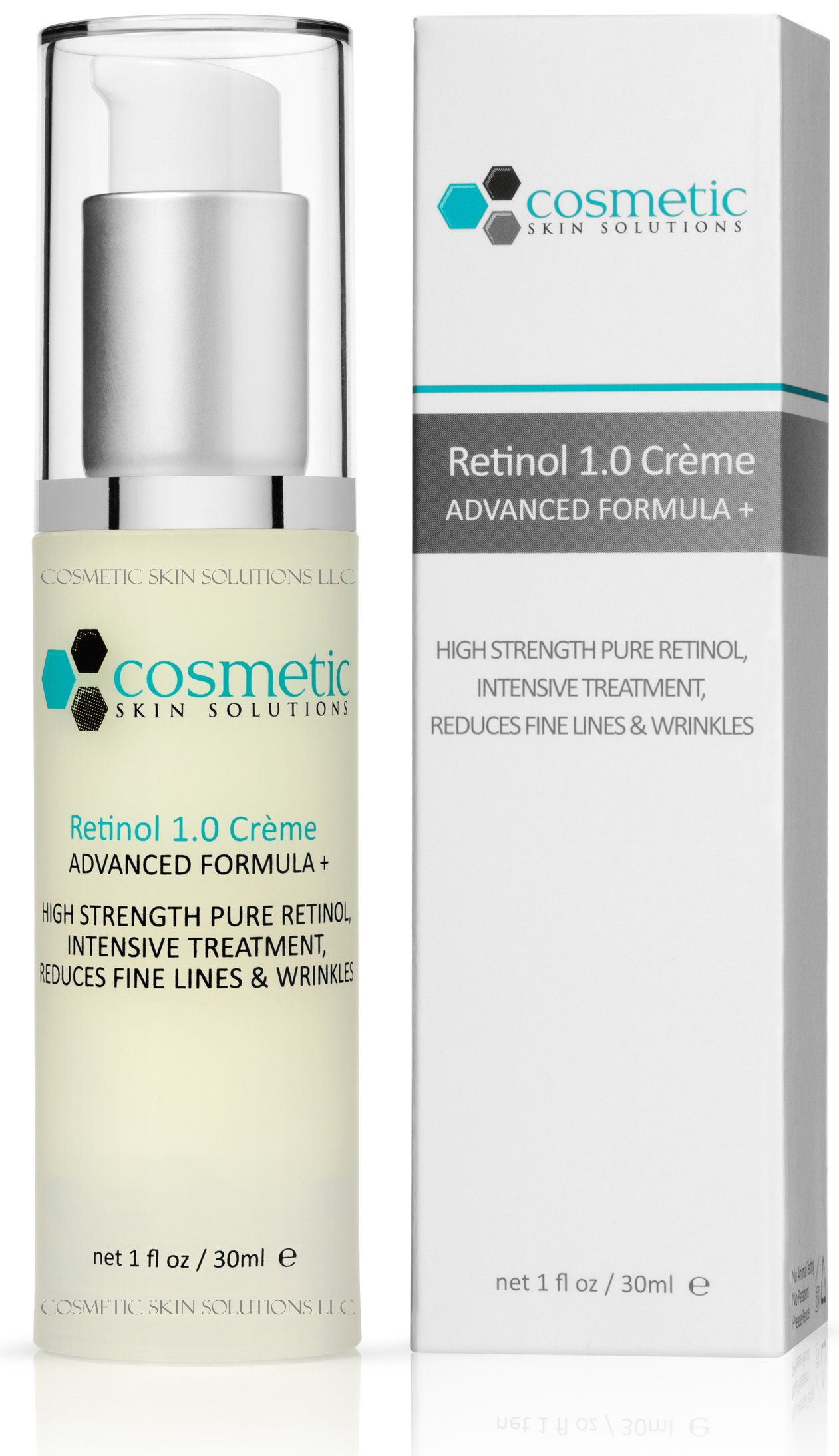 Best Retinol 1.0% Advanced Formula + 1 oz / 30 ml - 1% Retinol (Vitamin A), 1% Vitamin E. High strength, softens wrinkles & lines.