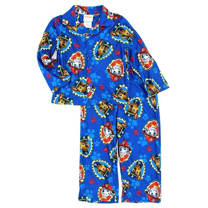 Paw Patrol Niños estilo de capa de franela pijama